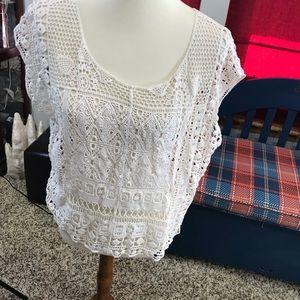 Lauren Conrad Crochet Vest #145